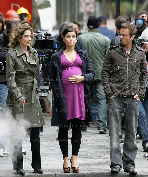 January 11th 2007 Los Angeles, California ***EXCLUSIVE*** Nelly Furtado films a cameo on CSI NY. Furtado has a fake baby bump which she uses to hide stolen goods that she shoplifts from high end stores.  Photo by Eric Ford 818-613-3955 info@onlocationnews.com
