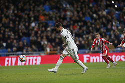 January 24, 2019 - Madrid, Madrid, Spain - Sergio Ramos(Real Madrid) seen in action during the Copa del Rey Round of quarter-final first leg match between Real Madrid CF and Girona FC at the Santiago Bernabeu Stadium in Madrid, Spain. (Credit Image: © Manu Reino/SOPA Images via ZUMA Wire)