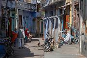 Street in Chanoud, Rajasthan, India.
