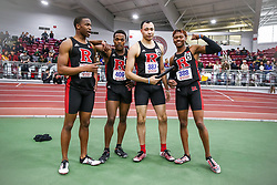 ECAC/IC4A Track and Field Indoor Championships<br /> Rutgers, 4x400 relay,