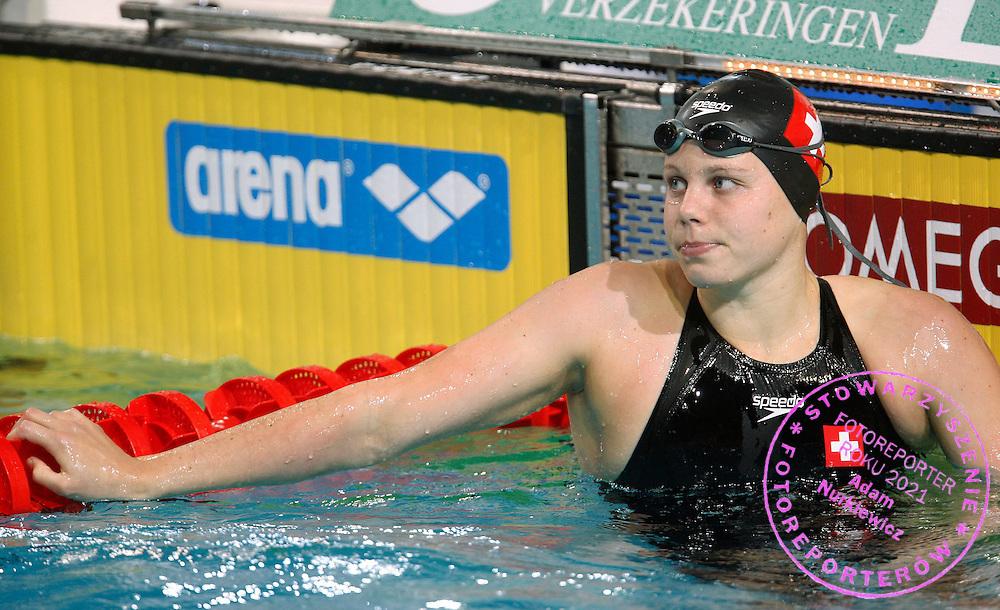 19/03/2008.EINDHOVEN 2008.LEN EUROPEAN SWIMMING CHAMPIONSHIPS.WOMEN'S 100m FREESTYLE ..QUALIFICATION ROUND.SERAINA PRUENTE /SUI/.FOT. PIOTR HAWALEJ / WROFOTO