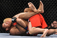 "ATLANTA, GEORGIA, SEPTEMBER 6, 2008: Roan Carneiro (bottom) attempts to keep Ryo Chonan trapped on the canvas during ""UFC 88: Breakthrough"" inside Philips Arena in Atlanta, Georgia on September 6, 2008"