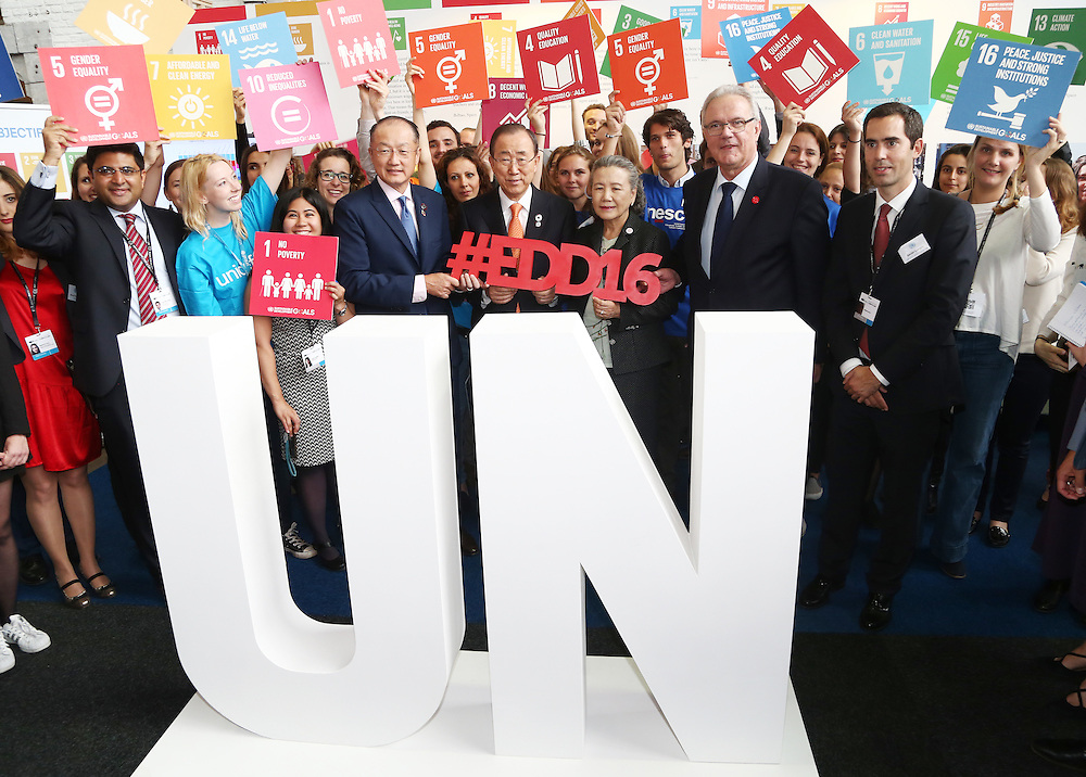 20160615 - Brussels , Belgium - 2016 June 15th - European Development Days - #EDD16 - Ban Ki-Moon - Secretary General, United Nations - Jim Yong Kim - President, The World Bank Group - Yoo (Ban) Soon-taek - Neven Mimica - EU Commissioner for International Cooperation and Development© European Union