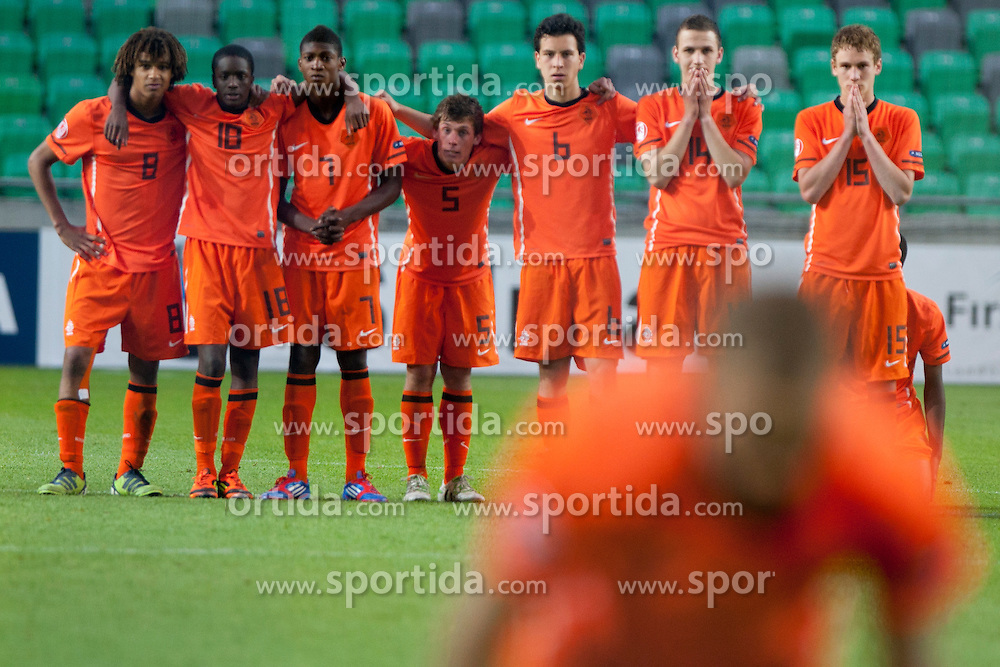 Team Netherlands during the UEFA European Under-17 Championship Final match between Germany and Netherlands on May 16, 2012 in SRC Stozice, Ljubljana, Slovenia. (Photo by Urban Urbanc / Sportida.com)
