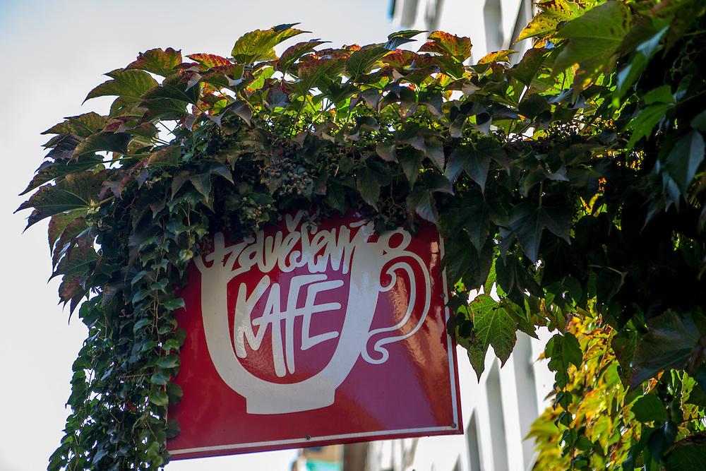 """Zum """"Aufgehängten Kaffee""""."""