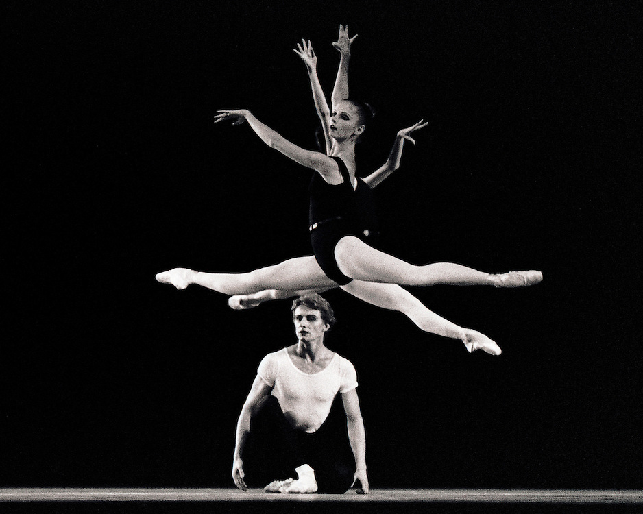 The Four Temperaments.Bart Cook, Judith Fugate and (obscured) Delia Peters.New York City Ballet.Choreography by George Balanchine.Photo By Paul Kolnik.New York City