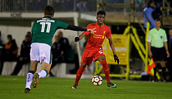 PLYMOUTH, ENGLAND - Wednesday, January 18, 2017: Liverpool's Oviemuno Ovie Ejaria in action against Plymouth Argyle during the FA Cup 3rd Round Replay match at Home Park. (Pic by David Rawcliffe/Propaganda)