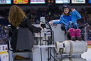 KELOWNA, CANADA - FEBRUARY 24:  Orchard Park Zamboni Rider at the Kelowna Rockets game on February 24, 2018 at Prospera Place in Kelowna, British Columbia, Canada.  (Photo By Cindy Rogers/Nyasa Photography,  *** Local Caption ***