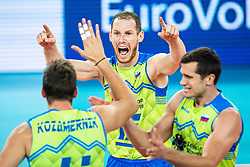 Tine Urnaut celebrating point during friendly volleyball match between Slovenia and Serbia in Arena Stozice on 2nd of September, 2019, Ljubljana, Slovenia. Photo by Grega Valancic / Sportida