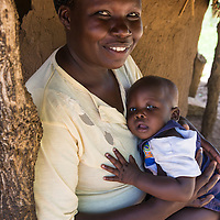 Mother and baby in Agora village near Soroti, Uganda