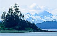 Grave Island in Keku Straight as viewed from Kake, Alaska.