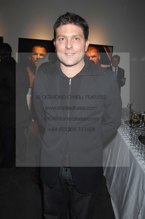 KENNY GOSS friend of singer George Michael, at a private view of Octagan a showcase of work of photographer Kevin Lynch featuring the stars of the Ultimate Fighter Championship held at Hamiltons gallery, Mayfair, London on 17th January 2008.<br />