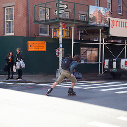 Prince in action, Prince Street, NYC