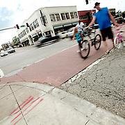 Intersection of 39th & Main Streets, Midtown Kansas City, Missouri.