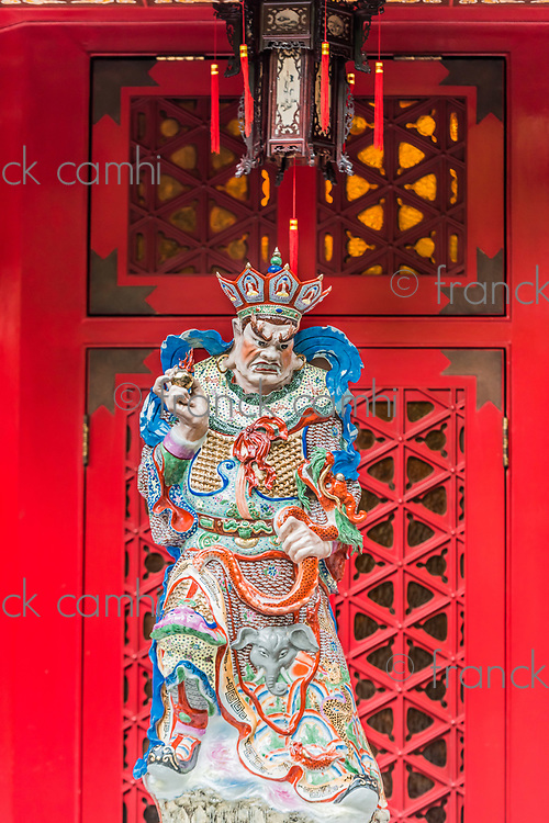 taoism god sculpture at Sik Sik Yuen Wong Tai Sin Temple Kowloon in Hong Kong