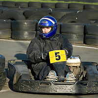 St Johnstone Manager Steve Lomas takes his players Go-Karting....<br /> Lee Croft racing his go-kart<br /> Picture by Graeme Hart.<br /> Copyright Perthshire Picture Agency<br /> Tel: 01738 623350  Mobile: 07990 594431