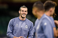 Gareth Bale of Real Madrid during the training session ahead the UEFA Champions League Final between Real Madrid and Juventus at the National Stadium of Wales, Cardiff, Wales on 2 June 2017. Photo by Giuseppe Maffia.<br /> Giuseppe Maffia/UK Sports Pics Ltd/Alterphotos