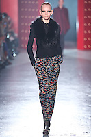 Model walks down runway for F2012 Jason Wu's collection in Mercedes Benz fashion week in New York on Feb 10, 2012 NYC