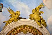 Detail Kuppelfresko von Johann Michael Rottmayr, Karlskirche, Wien, Österreich .Verwendung nur redaktionell  |.cupola fresco by Johann Michael Rottmayr, Karlskirche (Church), Vienna, Austria..