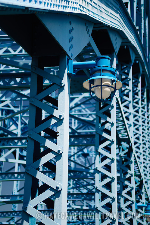 The John Ross Bridge across the Tennessee River in downtown Chattanooga Tennessee