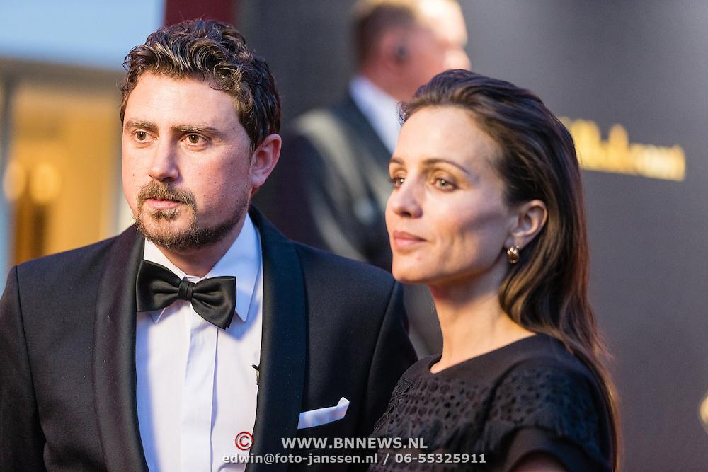 NLD/Utrecht/20160921- inloop Openingsavond NFF 2016: premiere DE HELD, Ersin Kiris en Daphne Bunskoek