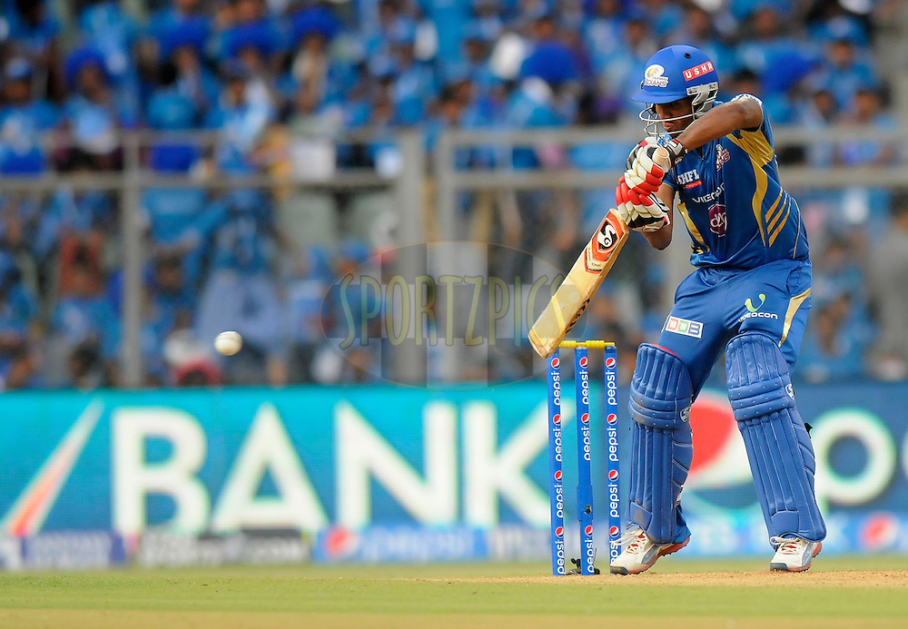 CM Gautam of the Mumbai Indians bats during match 22 of the Pepsi Indian Premier League Season 2014 between the Mumbai Indians and the Kings XI Punjab held at the Wankhede Cricket Stadium, Mumbai, India on the 3rd May  2014<br /> <br /> Photo by Pal Pillai / IPL / SPORTZPICS<br /> <br /> <br /> <br /> Image use subject to terms and conditions which can be found here:  http://sportzpics.photoshelter.com/gallery/Pepsi-IPL-Image-terms-and-conditions/G00004VW1IVJ.gB0/C0000TScjhBM6ikg