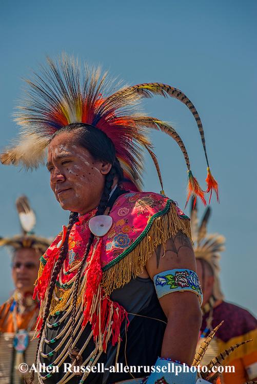 Traditional dancers, Crow Fair, powwow, Crow Indian Reservation, Montana