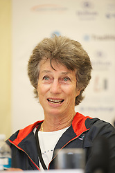 LIVERPOOL, ENGLAND - Friday, June 17, 2011: Virginia Wade during a press conference on day two of the Liverpool International Tennis Tournament at Calderstones Park. (Pic by David Rawcliffe/Propaganda)