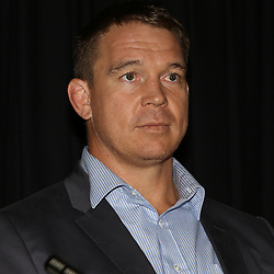 DURBAN, SOUTH AFRICA - JULY 20: John Smit former Springbok captain (Chief executive officer) of the Cell C Sharks during the Cell C Sharks press conference at Growthpoint Kings Park on July 20, 2016 in Durban, South Africa. (Photo by Steve Haag/Gallo Images)