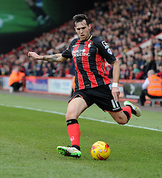Bournemouth's Charlie Daniels in action during the Sky Bet Championship match between AFC Bournemouth and Huddersfield Town at Goldsands Stadium on 14 February 2015 in Bournemouth, England - Photo mandatory by-line: Paul Knight/JMP - Mobile: 07966 386802 - 14/02/2015 - SPORT - Football - Bournemouth - Goldsands Stadium - AFC Bournemouth v Huddersfield Town - Sky Bet Championship