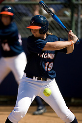 Virginia Cavaliers OF Sarah Tacke (19) at bat against Towson.  The Virginia Cavaliers Softball team faced the Towson University Tigers on April 3, 2007 at The Park in Charlottesville, VA.