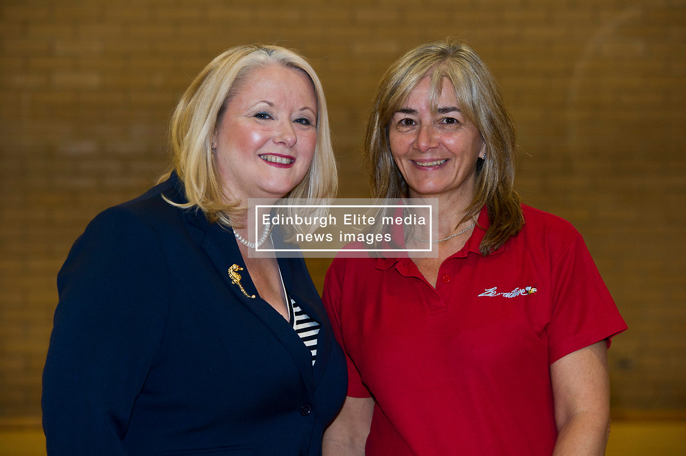 Pictured: Equalities Minister Christina McKelvie and Vivian Wallace, Aging well co-ordinator for Midlothian<br />