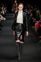 Magdalena Jasek (The Society) walks the runway wearing Altuzarra Fall 2015 during Mercedes-Benz Fashion Week in New York on February 14, 2015
