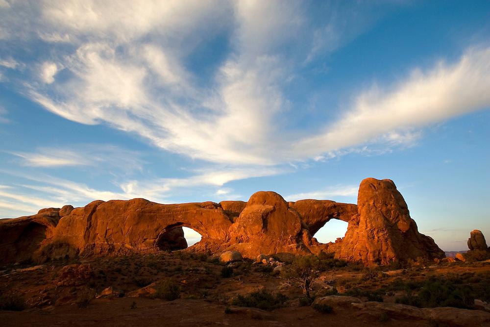 Arches National Park near Moab, Utah Saturday June 23, 2007. August Miller
