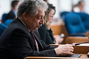 Outgoing Madison Mayor Paul Soglin looks on before the swearing in ceremony for Satya Rhodes-Conway and newly elected Alders at the City County Building in Madison, WI on Tuesday, April 16, 2019.