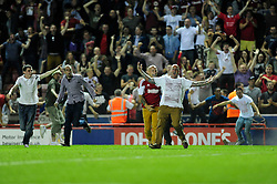 Bristol City fans invade the pitch - Photo mandatory by-line: Dougie Allward/JMP - Tel: Mobile: 07966 386802 04/09/2013 - SPORT - FOOTBALL -  Ashton Gate - Bristol - Bristol City V Bristol Rovers - Johnstone Paint Trophy - First Round - Bristol Derby