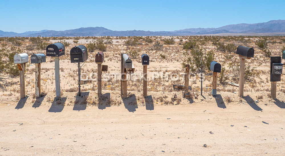 Mailboxes Lined Along the Road