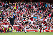 Arsenal midfielder Aaron Ramsey (8), Sevilla defender Nicolas Pareja (21) during the Emirates Cup 2017 match between Arsenal and Sevilla at the Emirates Stadium, London, England on 30 July 2017. Photo by Sebastian Frej.