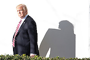 January 27, 2017 - Washington, DC, United States - <br /> <br /> President Trump Returns To The White House<br /> <br />  US President DONALD TRUMP walks from Marine One to the White House. Thousands of people are gathering in Washington ahead of Fridays 44th anti-abortion March for Life. Many attendees expressed that for the first time in nearly a decade they feel their voices will be heard, and that's because of President Trump<br /> ©Exclusivepix Media