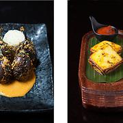 Aubergine curry & tikka paneer, Mintleaf