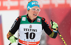 20.02.2016, Salpausselkae Stadion, Lahti, FIN, FIS Weltcup Langlauf, Lahti, Damen, im Bild Sandra Ringwald (GER) // Sandra Ringwald of Germany reacts during Ladies FIS Cross Country World Cup, Lahti Ski Games at the Salpausselkae Stadium in Lahti, Finland on 2016/02/20. EXPA Pictures © 2016, PhotoCredit: EXPA/ JFK