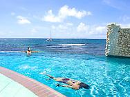 Elene in the pool - Oyster Bay Beach Resort