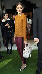 Olivia Palermo at the Mulberry show at London  Fashion Week for Spring/Summer 2013 Tuesday, September 18th 2012.  Photo by: Stephen Lock / i-Images