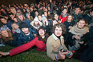 Revellers gather in Edinburgh's Princess Street gardens for Hogmanay celebrations on Dec 31st, 2016 in Edinburgh, Scotland. (Photo by Ross Gilmore)