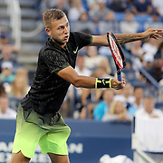 2016 U.S. Open - Day 6   Daniel Evans of Great Britain in action against Stan Wawrinka of Switzerland in the Men's Singles round three match on Louis Armstrong Stadium on day six of the 2016 US Open Tennis Tournament at the USTA Billie Jean King National Tennis Center on September 3, 2016 in Flushing, Queens, New York City.  (Photo by Tim Clayton/Corbis via Getty Images)