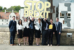 SNP launch European election campaign. Leader Nicola Sturgeon joined the party's six candidates.<br /> <br /> The candidates are Margaret Ferrier, Christian Allard, Alyn Smith, Aileen McLeod, Heather Anderson and Alex Kerr.<br /> <br /> Pictured: (left to right) Alex Kerr, Margaret Ferrier, Aileen McLeod, Alyn Smith, Nicola Sturgeon, Christian Allard, Heather Anderson and Keith Brown.<br /> <br /> Alex Todd | Edinburgh Elite media