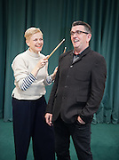 HOW WE MET FEATURE:<br /> Actress MAXINE PEAKE was given drumming lessons by MIKE JOYCE of The Smiths.  Photograph &copy; Howard Barlow