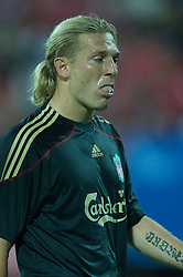 SINGAPORE, SINGAPORE - Sunday, July 26, 2009: Liverpool's Andriy Voronin in action against Singapore during a preseason friendly at the Singapore National Stadium. (Pic by David Rawcliffe/Propaganda)