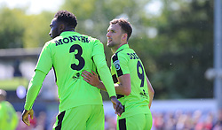 Christian Doidge of Forest Green Rovers celebrates his goal with Emmanuel Monthe of Forest Green Rovers- Mandatory by-line: Nizaam Jones/JMP - 07/05/2017 - FOOTBALL - New Lawn Stadium - Nailsworth, England - Forest Green Rovers v Dagenham and Redbridge - Vanarama National League Play-Off Semi-Final Second Leg
