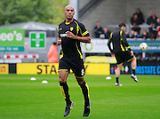 Burton's Chris O'Grady (8) warms-up during the EFL Sky Bet Championship match between Burton Albion and Cardiff City at the Pirelli Stadium, Burton upon Trent, England on 1 October 2016. Photo by Richard Holmes.